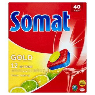 Somat Gold Lemon & Lime prostředek na automatické mytí nádobí 40 tablet 760g