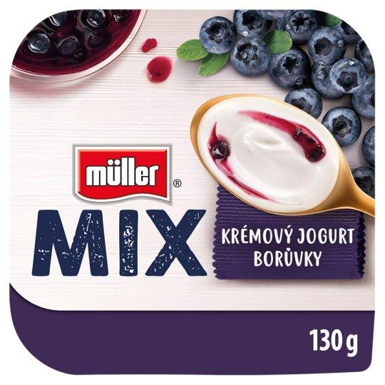 Müller Mix Blueberry slazený ochucený jogurt 130g