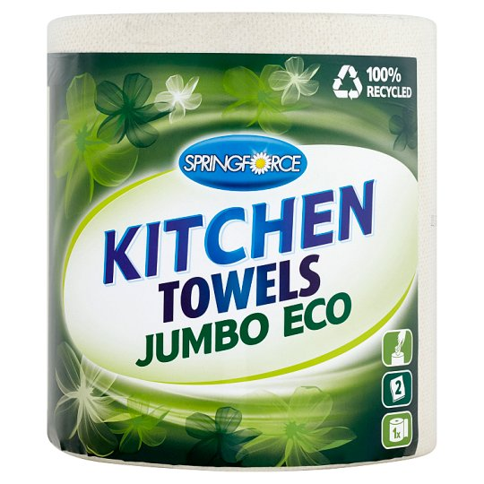 Springforce Kitchen Towels Jumbo Eco 1 Roll