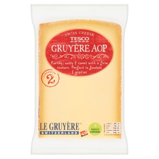 Tesco Gruyere AOP Swiss Cheese 195g