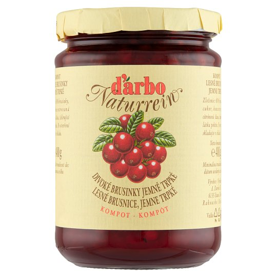 d'arbo Naturrein Wild Cranberry Compote Gently Bitter 400g