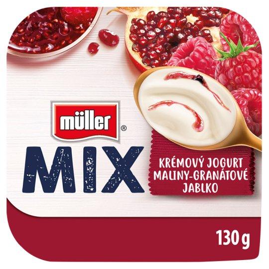 Müller Mix Raspberry-Pomegranate Creamy Yogurt 130g