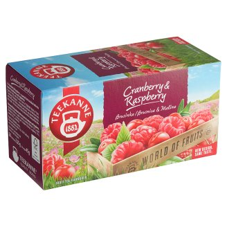 TEEKANNE Cranberry & Raspberry, World of Fruits, 20 sáčků, 45g
