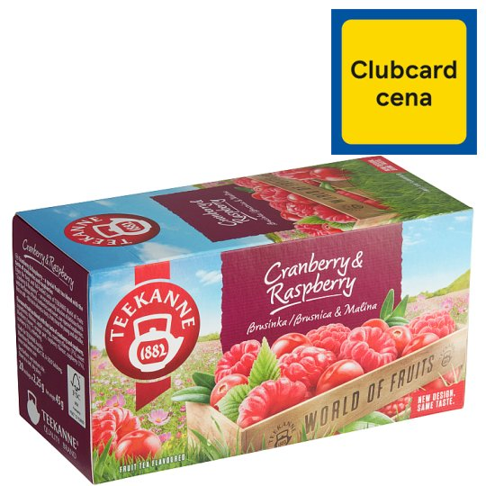 TEEKANNE Cranberry & Raspberry, World of Fruits, 20 sáčků, 45g