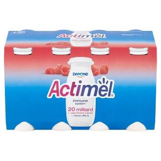 Danone Actimel Yoghurt Milk with Raspberries 8 x 100g