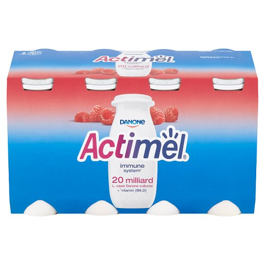 Danone Actimel Yoghurt Milk with Raspberries 8 x 100g