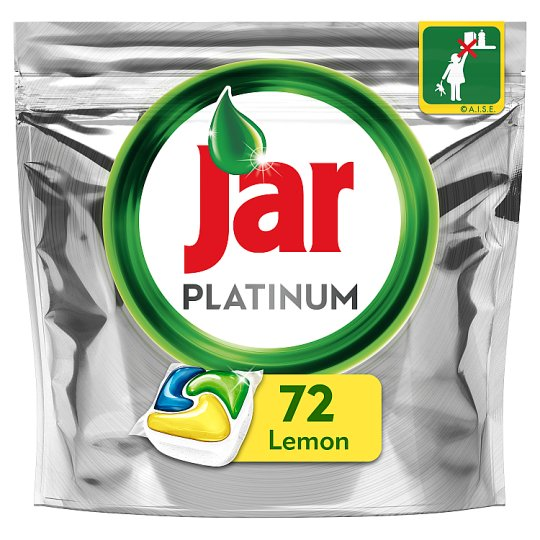 Jar Platinum Dishwasher Tablets Lemon 72 per pack