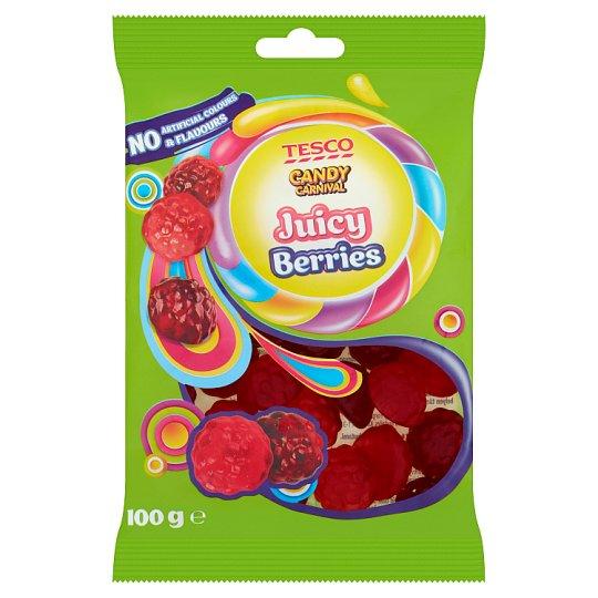 Tesco Candy Carnival Juicy Berries želé s ovocnými příchutěmi 100g