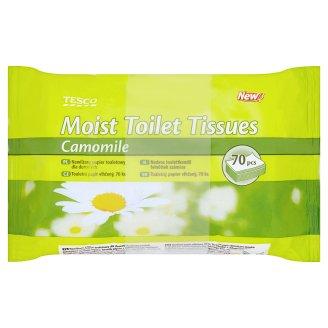 Tesco Toaletní papír vlhčený s vůní heřmánku 2 x 70 ks