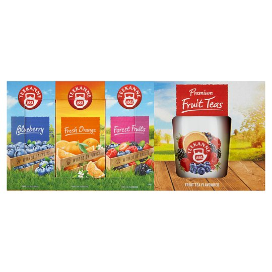 TEEKANNE Gift Set + Cup, World of Fruits, 60 Bags, 130g