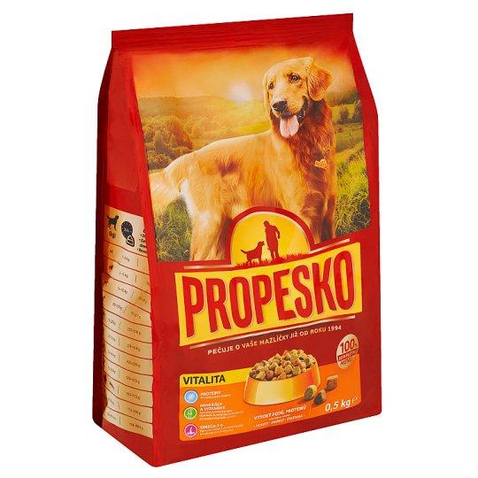 Propesko S drůbežím, hovězím a zeleninou pro vitální a silné psy 0,5kg