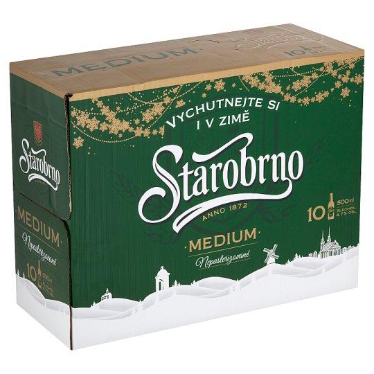 Starobrno Medium Beer Lager Light 10 x 0.5L