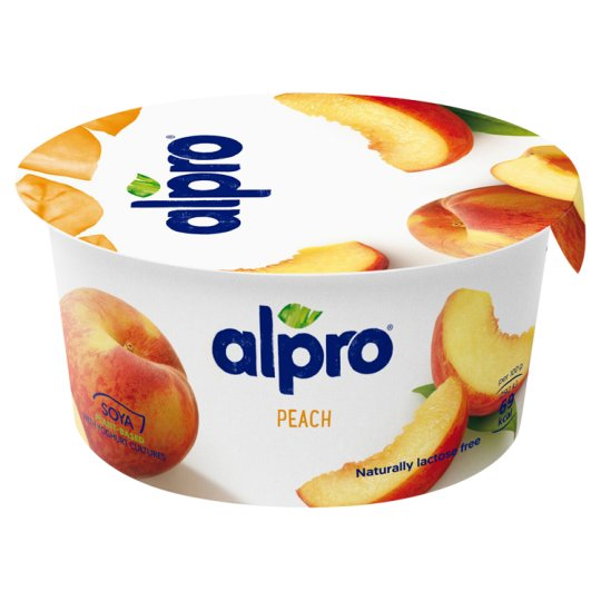 Alpro Fermented Soy Product Peach 150g