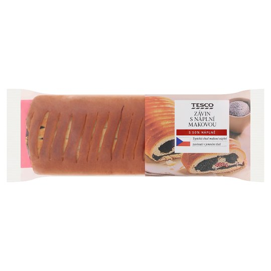 Tesco Strudel with Poppy Seeds Filling 400g