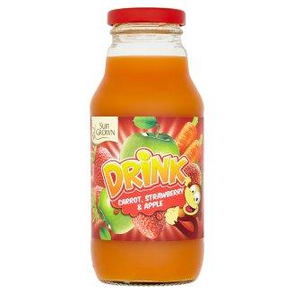 Sun Grown Nesycený nápoj mrkev, jahoda, jablko 330ml