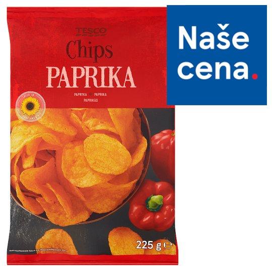 Tesco Chips paprika 225g