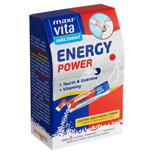 MaxiVita Vaše Zdraví Energy Power + Taurin & Guarana + Vitaminy 12 sáčků 24g