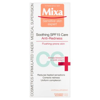 image 1 of Mixa Sensitive Skin Expert CC+ Soothing Care Anti-redness SPF15 50ml