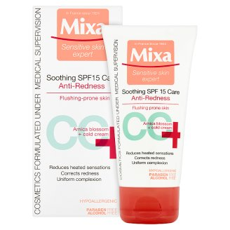 image 2 of Mixa Sensitive Skin Expert CC+ Soothing Care Anti-redness SPF15 50ml