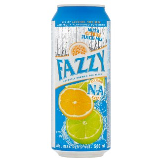 Fazzy Soft Drink Mixed with Non-alcoholic Beer with Flavor of Citrus 500ml