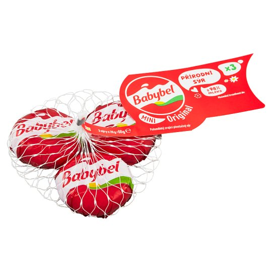Babybel Mini Semi-Soft Ripened Whole Cheese 3 x 20g