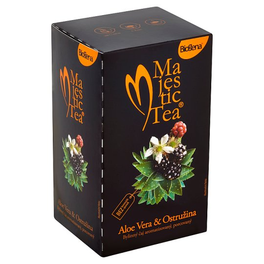 Biogena Majestic Tea Aloe vera & ostružina bylinný čaj aromatizovaný, porcovaný 20 x 2,5g
