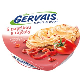 Gervais Original Cream Cottage Cheese with Peppers and Tomatoes 80g