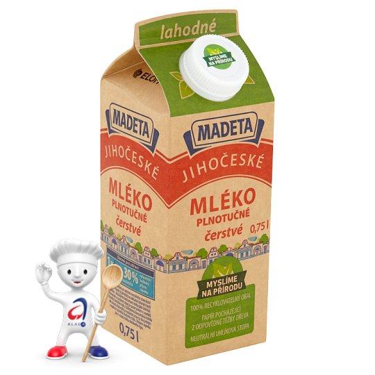 Madeta South Bohemia Delicious Full-Fat Milk 0.75L
