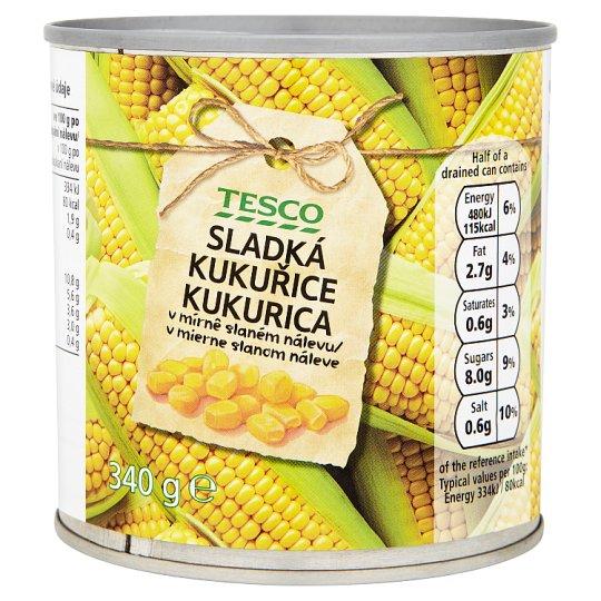 Tesco Sweet Corn in Brine 340g