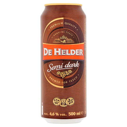 De Helder Beer Semi-Dark Lager Beer 500ml