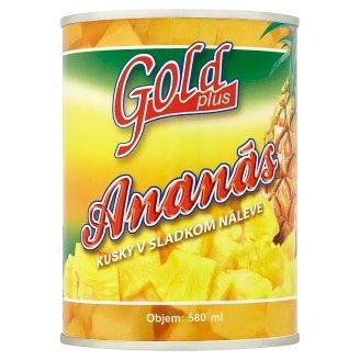 Gold Plus Ananas kousky v sladkém nálevu 565g