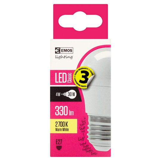 LED Bulb Classic Mini Globe 4W E27 Warm White