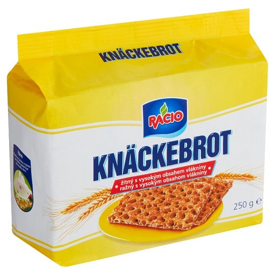 Racio Knäckebrot Rye High Fiber 250g