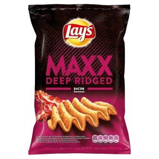 Lay's Maxx Smažené bramborové lupínky s příchutí grilované slaniny 70g