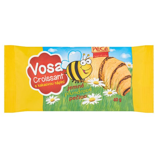 Pécé Croissant Vosa s kakaovou náplní 40g