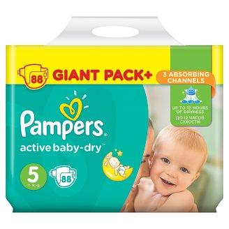 Pampers Active Baby-Dry Velikost 5 (Junior), 88 Dětské Plenky