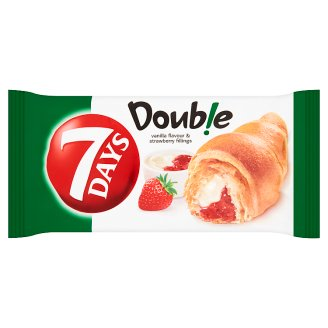 7 Days Double Croissant with Vanilla Flavour and Strawberry Filling 60g