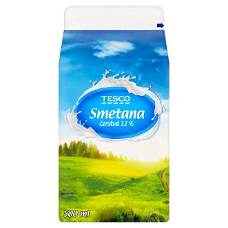 Tesco Value Smetana 12% 500ml