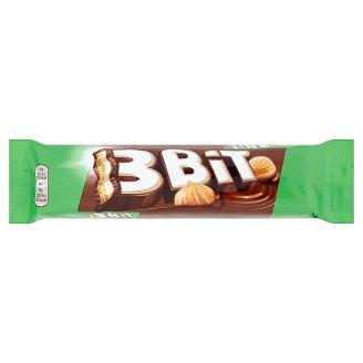 3Bit Sušenka s mléčnou čokoládou a náplní s lískovými oříšky 46g
