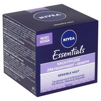 Nivea Essentials Zklidňující noční krém pro citlivou pleť 50ml