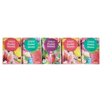 Tesco Pocket Tissues 10 x 10 pcs