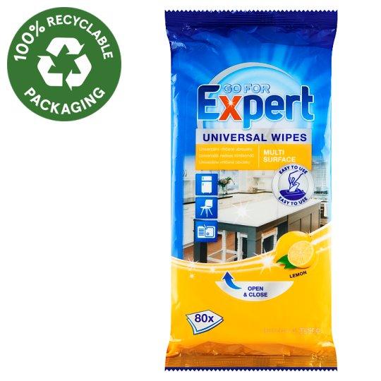 Go for Expert Lemon univerzální vlhčené ubrousky 80 ks
