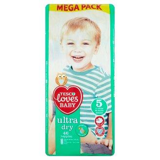 Tesco Loves Baby Ultra Dry Plenky 5 junior mega balení 46 ks