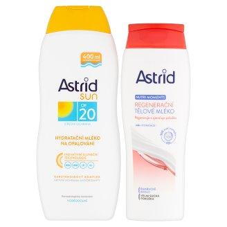 Astrid Sun Hydratační mléko na opalování OF 20 400ml + Nutri Moments Regenerační tělové mléko 250ml
