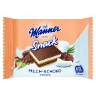 Manner Snack Wafer Slices Filled with Chocolate-Coconut Cream and Milk Cream 4 x25g
