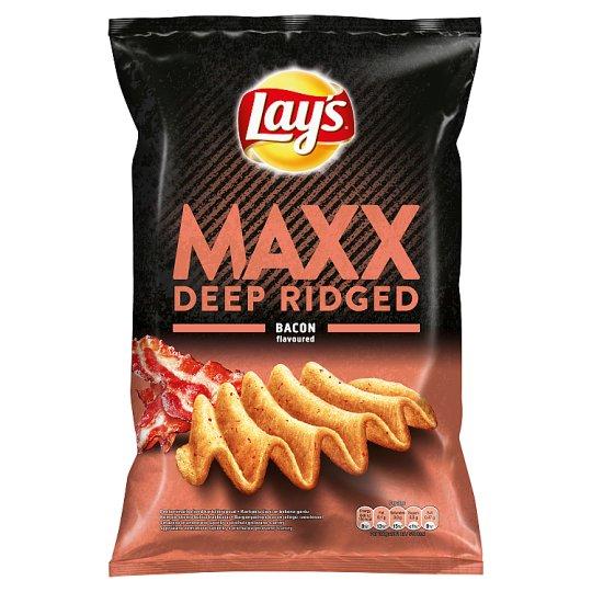 Lay's Maxx Smažené bramborové lupínky s příchutí grilované slaniny 140g