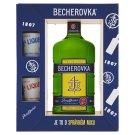 Becherovka Original Bylinný likér 50cl s 2 porcelánovými kalíšky