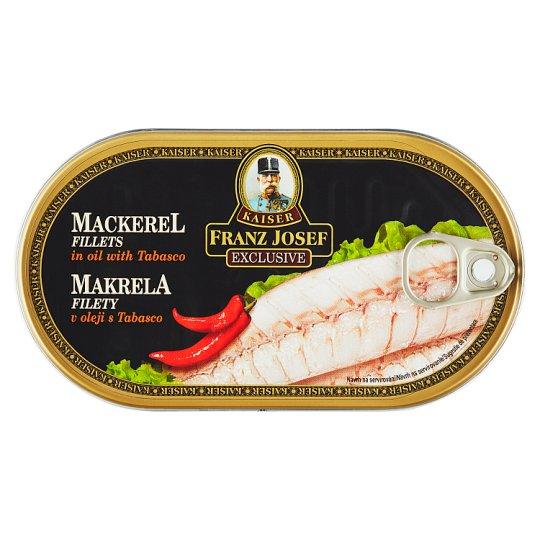 Kaiser Franz Josef Exclusive Mackerel Fillets in Oil with Tabasco 170g