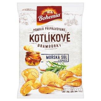 Bohemia Kotlíkové brambůrky mořská sůl a rozmarýn 120g