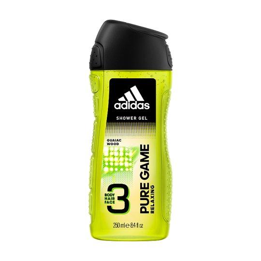 Adidas Pure Game Relaxing sprchový gel na tělo, tvář & vlasy 250ml